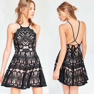 Urban Outfitters Black Baroque Lace Dress